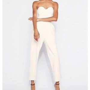 Express white jumpsuit